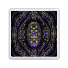 Fractal Sparkling Purple Abstract Memory Card Reader (Square)
