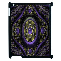 Fractal Sparkling Purple Abstract Apple iPad 2 Case (Black)
