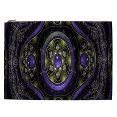 Fractal Sparkling Purple Abstract Cosmetic Bag (XXL)