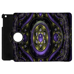 Fractal Sparkling Purple Abstract Apple iPad Mini Flip 360 Case
