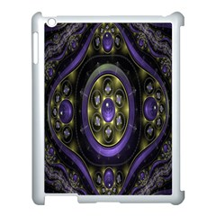 Fractal Sparkling Purple Abstract Apple Ipad 3/4 Case (white)