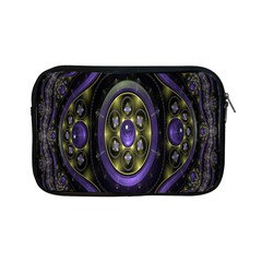 Fractal Sparkling Purple Abstract Apple iPad Mini Zipper Cases