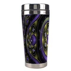 Fractal Sparkling Purple Abstract Stainless Steel Travel Tumblers