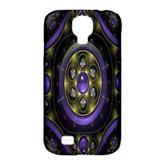 Fractal Sparkling Purple Abstract Samsung Galaxy S4 Classic Hardshell Case (PC+Silicone)