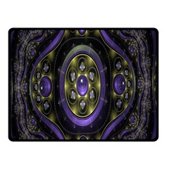 Fractal Sparkling Purple Abstract Double Sided Fleece Blanket (Small)