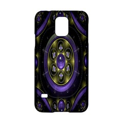 Fractal Sparkling Purple Abstract Samsung Galaxy S5 Hardshell Case