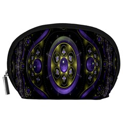 Fractal Sparkling Purple Abstract Accessory Pouches (large)