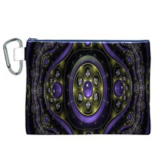 Fractal Sparkling Purple Abstract Canvas Cosmetic Bag (xl)