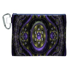 Fractal Sparkling Purple Abstract Canvas Cosmetic Bag (xxl)