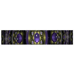 Fractal Sparkling Purple Abstract Flano Scarf (small)