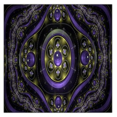 Fractal Sparkling Purple Abstract Large Satin Scarf (square)