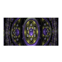 Fractal Sparkling Purple Abstract Satin Wrap