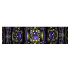 Fractal Sparkling Purple Abstract Satin Scarf (oblong)