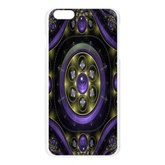 Fractal Sparkling Purple Abstract Apple Seamless iPhone 6 Plus/6S Plus Case (Transparent)