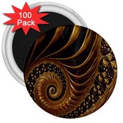 Fractal Spiral Endless Mathematics 3  Magnets (100 pack)