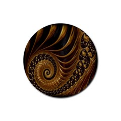 Fractal Spiral Endless Mathematics Rubber Coaster (Round)