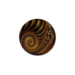 Fractal Spiral Endless Mathematics Golf Ball Marker