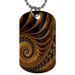 Fractal Spiral Endless Mathematics Dog Tag (Two Sides)