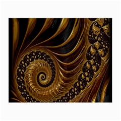 Fractal Spiral Endless Mathematics Small Glasses Cloth