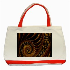 Fractal Spiral Endless Mathematics Classic Tote Bag (Red)