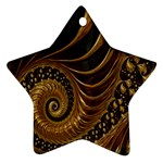 Fractal Spiral Endless Mathematics Star Ornament (Two Sides) Front