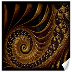 Fractal Spiral Endless Mathematics Canvas 16  x 16