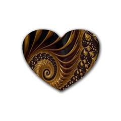 Fractal Spiral Endless Mathematics Rubber Coaster (Heart)