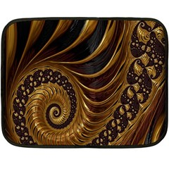Fractal Spiral Endless Mathematics Fleece Blanket (mini)