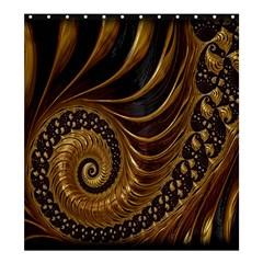 Fractal Spiral Endless Mathematics Shower Curtain 66  x 72  (Large)