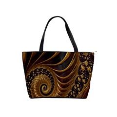 Fractal Spiral Endless Mathematics Shoulder Handbags