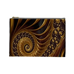 Fractal Spiral Endless Mathematics Cosmetic Bag (Large)