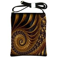 Fractal Spiral Endless Mathematics Shoulder Sling Bags