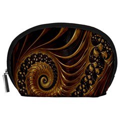 Fractal Spiral Endless Mathematics Accessory Pouches (large)