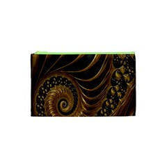 Fractal Spiral Endless Mathematics Cosmetic Bag (xs)