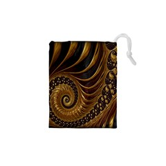 Fractal Spiral Endless Mathematics Drawstring Pouches (xs)