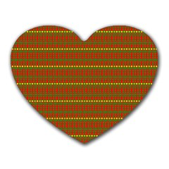 Fugly Christmas Xmas Pattern Heart Mousepads