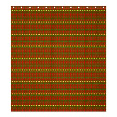 Fugly Christmas Xmas Pattern Shower Curtain 66  x 72  (Large)