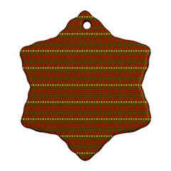 Fugly Christmas Xmas Pattern Snowflake Ornament (two Sides)