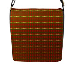 Fugly Christmas Xmas Pattern Flap Messenger Bag (L)