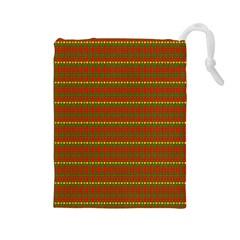 Fugly Christmas Xmas Pattern Drawstring Pouches (large)