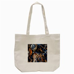 Frost Leaves Winter Park Morning Tote Bag (cream)