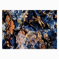 Frost Leaves Winter Park Morning Large Glasses Cloth (2-Side)