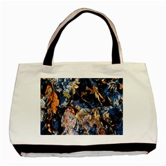 Frost Leaves Winter Park Morning Basic Tote Bag (Two Sides)