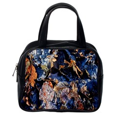 Frost Leaves Winter Park Morning Classic Handbags (One Side)