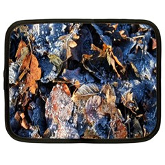Frost Leaves Winter Park Morning Netbook Case (XL)