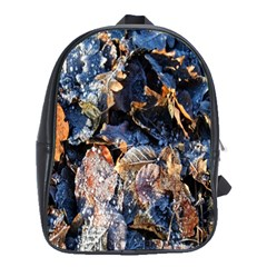 Frost Leaves Winter Park Morning School Bags(Large)