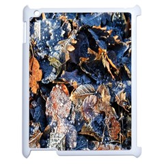 Frost Leaves Winter Park Morning Apple iPad 2 Case (White)