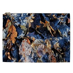 Frost Leaves Winter Park Morning Cosmetic Bag (XXL)