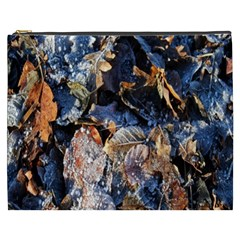 Frost Leaves Winter Park Morning Cosmetic Bag (XXXL)