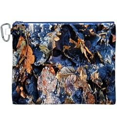 Frost Leaves Winter Park Morning Canvas Cosmetic Bag (xxxl)